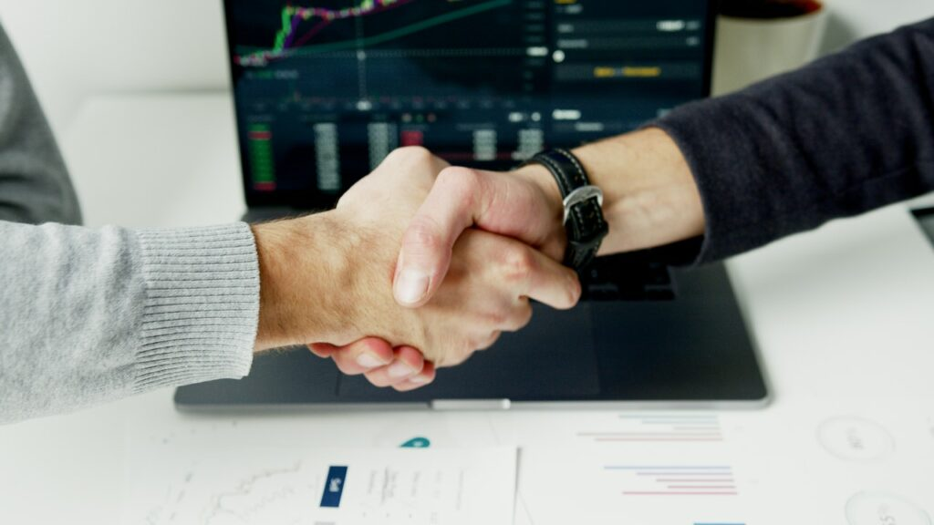 Traders Shaking Hands